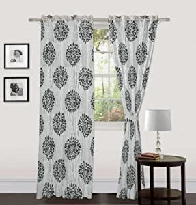 "Skipper Eyelet Polyviscose Window Curtain - 44""x72"", Grey (RC088888EYELET44x72)"