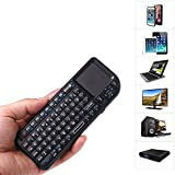 Fheimin® Mini 2.4GHz Wireless Keyboard Touchpad With Laser Pointer For PC Pad And Laptop Etc (Black)