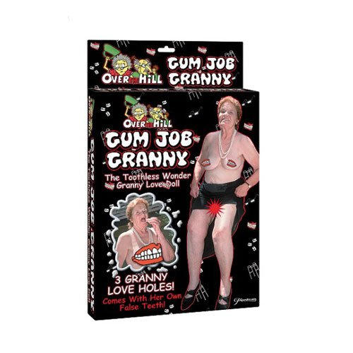 Pipedream Products Gum Job Granny Blow Up Doll, Flesh
