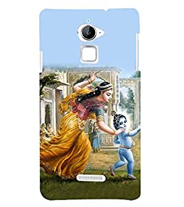Lord Krishna 3D Hard Polycarbonate Designer Back Case Cover for Coolpad Note 3 Lite :: Coolpad Note 3 Lite Dual SIM