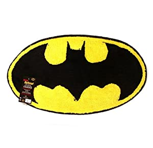 batman logo bath mat bathmats