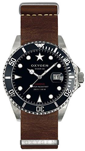 OXYGEN - Orologio da polso, analogico al quarzo, pelle