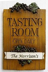 Wine Decor Personalized Wine Tasting Room Sign