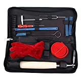 Piano Tuning Kits, UMsky 10 Pieces Piano Tuning Tools Including Tuning Hammer Mute Wrench Hammer Handle Kit Tools and Case for Tuner (Tamaño: 11Pieces)