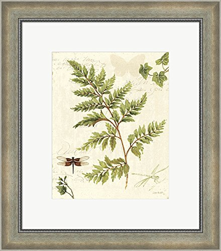 ivies-and-ferns-i-by-lisa-audit-framed-art-print-wall-picture-silver-scoop-frame-with-hanging-cleat-