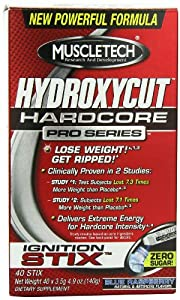 Hydroxycut Pro Clinical Instant Drink Mix, Blue Raspberry (40 pack) 4.9oz