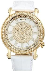 Juicy Couture Women's 1900992 Queen Couture White Leather Strap Watch