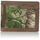 RealTree Men's Leather Canvas Billfold Wallet, Camo, One Size