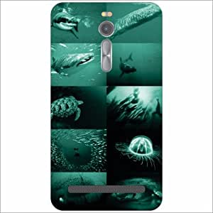 Asus ZenFone 2 ZE551ML Back Cover - Navy Blue Designer Cases