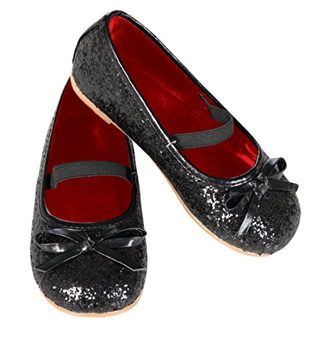 Rubie's Costume Black Glitter Child Flat Shoes, One Color, Small
