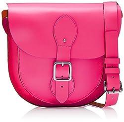 Viari Berkeley Sophomore Satchel (Neon Pink)
