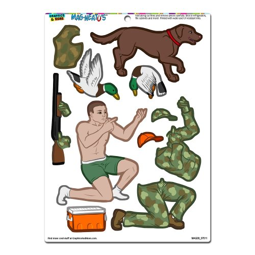 Graphics and More 'Duck Hunter Dress-Up' Hunting Dog Camouflage Funny MAG-NEATO'S Novelty Gift Paper Doll Locker Refrigerator Vinyl Magnet Set (Refrigerator Magnets Paper Doll compare prices)