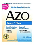 Azo Natural Yeast Symptom Prevention & Relief. , Lactose Free, 60 Tablet Boxes (Pack Of 3) by Azo
