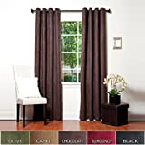 Chocolate Faux Suede Grommet Top Insulated Blackout Curtain 52