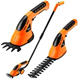 VonHaus 7.2V Lithium-Ion Cordless 2 in 1 Grass and Hedge Trimmer with bar and wheel plus charger.