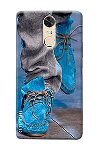 Omnam Sky Blue Canvas Shoes Design Back Cover Case For Lenovo K5 Note