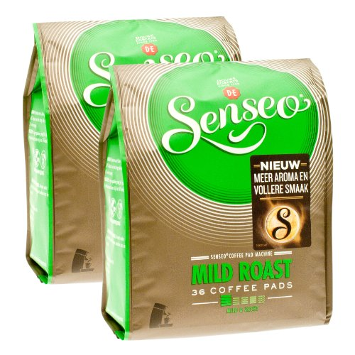 Choose Senseo Mild Roast, Design, Pack of 2, 2 x 36 Coffee Pods by Douwe Egberts