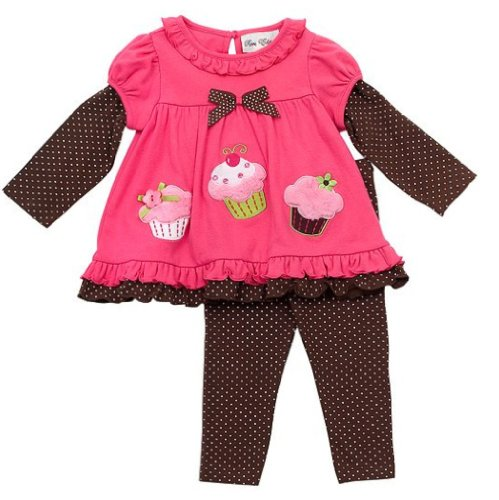 Rare Editions Infant Cupcake Leggings and Shirt Set 3 Months 24 Months 6 9 Months