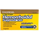 GoodSense Hemorrhoidal Suppositories, 12-count