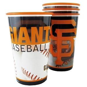 MLB San Francisco Giants Souvenir Cups (4-Pack), 20-Ounce