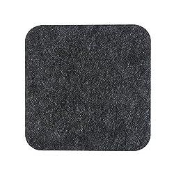 Litop Deep Grey Color Carpet Felt Mouse Pad for ALL Mouses (Felt-DarK Grey)