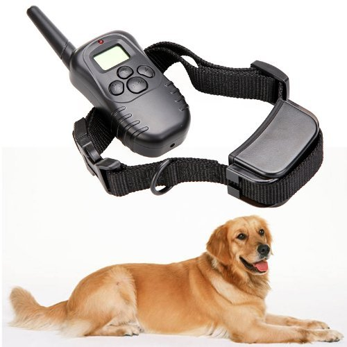 Hot! Rechargeable Waterproof 300M 100Lv Lcd Remote Dog Pet Training Collar Shock Vibrate For 1 Dog By Ahmet