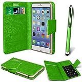 Online-Gadgets UK - Nokia Asha 500 PU Leather Suction Pad Wallet Case Cover & High Sensitive Stylus Pen - Green