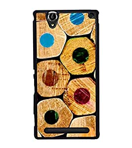 Multicolour Pencils 2D Hard Polycarbonate Designer Back Case Cover for Sony Xperia T2 Ultra :: Sony Xperia T2 Ultra Dual SIM D5322 :: Sony Xperia T2 Ultra XM50h
