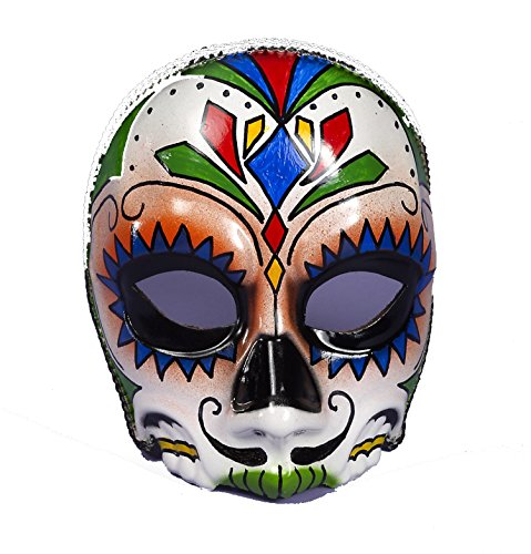 Day Of Dead Mask Male With Eyeglass Frame Attach 73640