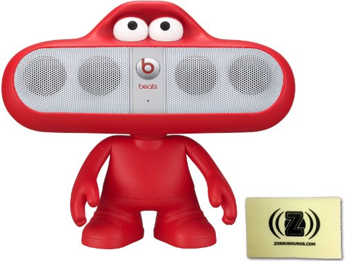 Beats By Dr. Dre Pill 2.0 Wireless Portable Speaker System (White) Bundle With Red Beats Pill Character Stand And Zorro Sounds Polishing Cloth