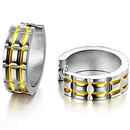 alimab gioielli orecchini da donna in acciaio inox Circle Oro