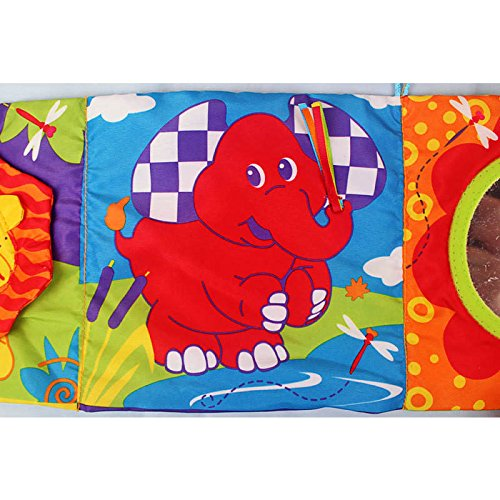 High-Contrast Activity Puzzle Zoo Cloth Book Bed Arround Early Development Toy Baby Rattle Children Toy Product front-1056118