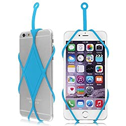 Efanr® Universal Silicone Phone Case Cover Holder Sling Lanyard Necklace Wrist Strap For iPhone SE 6S 6 Plus 5S Samsung Galaxy S6 Note 5 4 HTC LG and other Smart Mobile Cell Phones (Sky Blue)