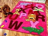 Lifestyle Kinderteppich ABC Pink in 3 Größen !!! Sofort Lieferbar !!!