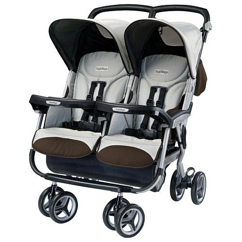 Peg Perego Aria Twin Stroller Java front-212628