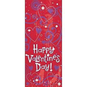 20 Happy Valentine's Day! Party Bags & Twist Ties