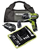 Rockwell RK2515K2.1 3RILL 3-in-1 Impact, Drill, and Driver 26-piece Kit 12 Volt LithiumTech