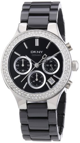 DKNY Ladies Watch NY4983 with Black Dial and Black Ceramic Strap