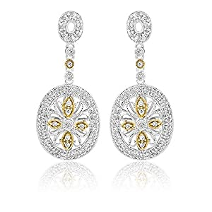 14K TWO TONE GOLD 0.64CTW DIAMOND EARRING