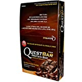 Quest Bar Chocolate Brownie - Low Carb, High Protein Bars that are High Fiber and Gluten Free - Box of 12