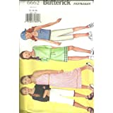 Girls Top, Skirt, Pants & Scarf (Butterick Sewing Pattern 6662, Size 12,14,16) ~ Butterick  Fast & Easy...