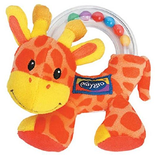 Lovely Kids Soft Toy For Baby Intelligence Training Playgro Giraffe Hand Grasp Bell Plush front-849625