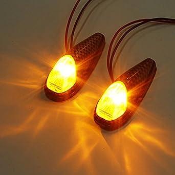 2Pcs Hot Sale 12V 6LED Mini Lampe Universel Moto Clignotant Lumière Indicateur