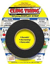 CLING THING© Get-A-Grip© Self-sticking DISPLAY STRIP - Black