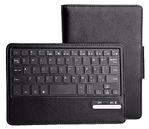 IVSO Samsung Galaxy Tab 3 7.0 Bluetooth Keyboard Portfolio Case - DETACHABLE Bluetooth Keyboard Stand Case / Cover for Samsung Galaxy Tab 3 7.0 Tablet (Black)