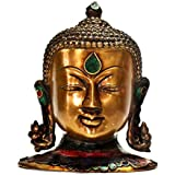 Buddha Wall Mask - Bronze Sculpture Buddha Bust Wall Hanging - Head Buddha Wall Sculpture - Diwali Decor Gifts