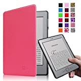 Fintie Kindle 5 & Kindle 4 Ultra Slim Case - The Thinnest and Lightest PU Leather Cover with Magnet Closure (Only Fit Amazon Kindle With 6'' E Ink Display, does not fit Kindle Paperwhite, Touch, or Keyboard), Magenta