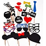 31PCS Colorful Props On A Stick Mustache Photo Booth Party Fun Wedding Christmas Birthday Favor