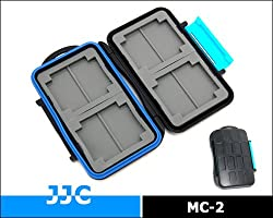 JJC 4x CF and 8x SD Memory Card Case Holder (Blue)