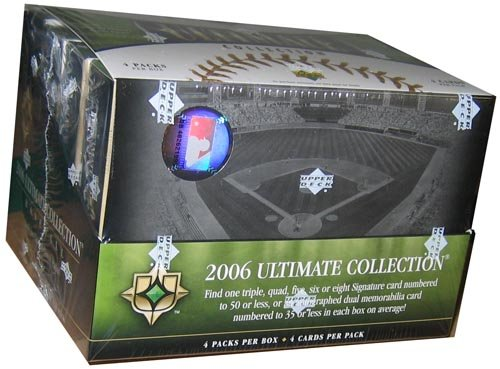 2006 Upper Deck MLB Ultimate Collection Baseball Factory Sealed Hobby Box (Every Pack Contains Either an Autograph, Jersey or Patch)